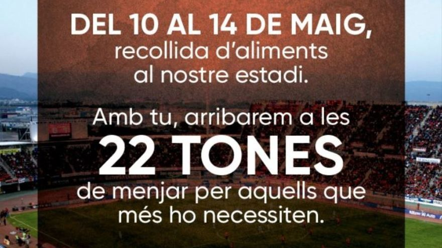 El Real Mallorca se marca un nuevo objetivo: 22 toneladas de alimentos