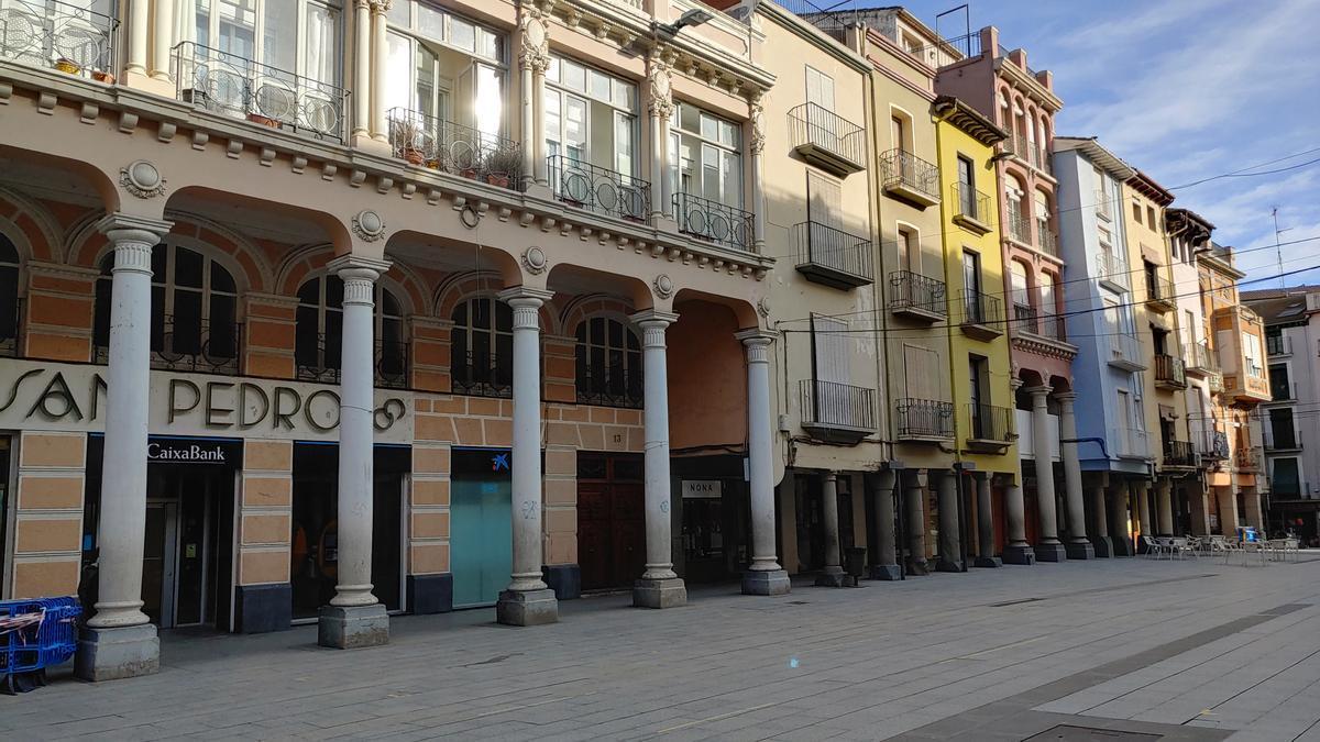 Plaza del Mercado, Barbastro.