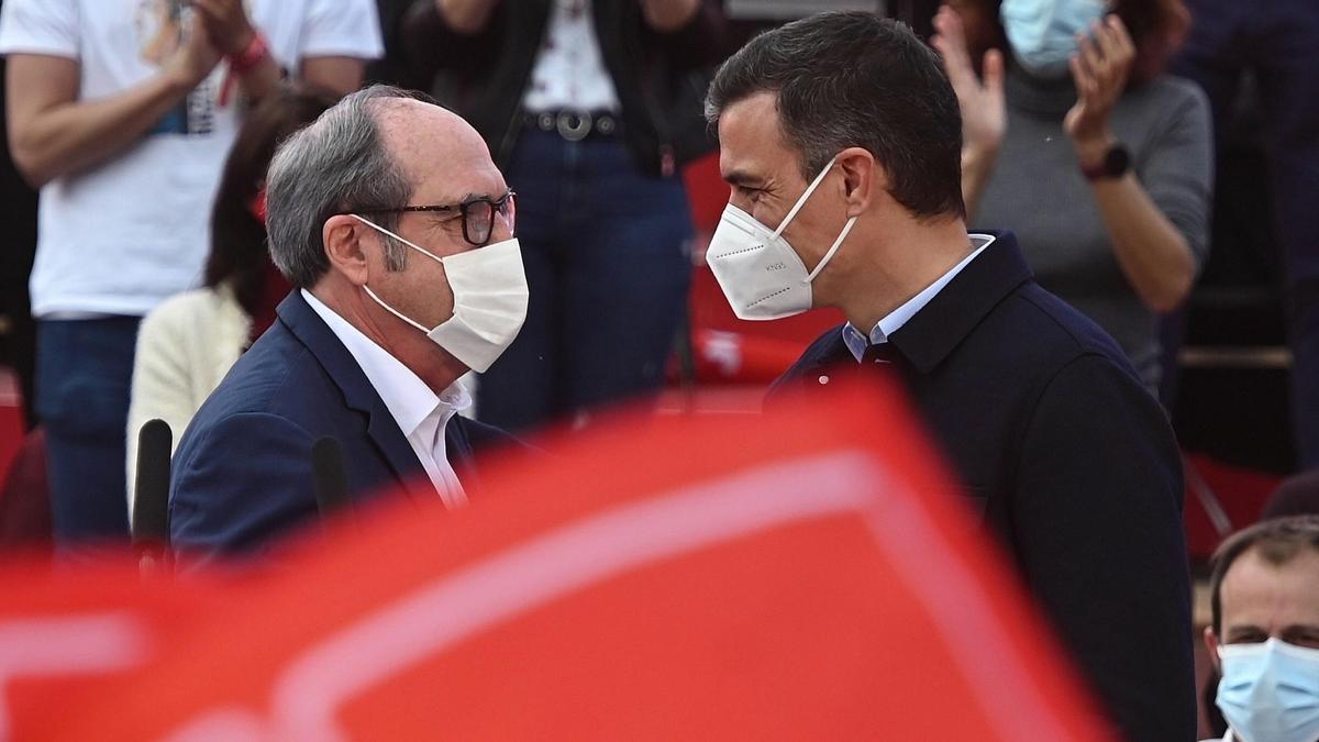 Sánchez y Gabilondo en el cierre de campaña