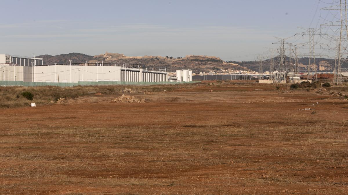 Vista de la zona en obras