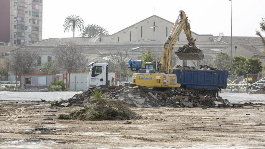 Comienza la urbanización de la plaza de la Ciudad de la Justicia en Alicante