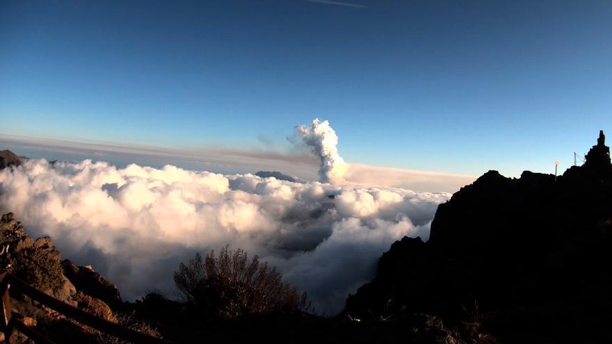La erupción de La Palma, desde el Roque de los Muchachos