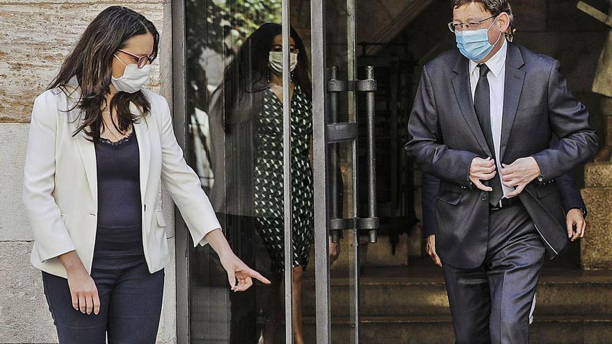 Puig y Oltra llevan ya ocho meses sin mantener una reunión formal pese a la crisis del coronavirus