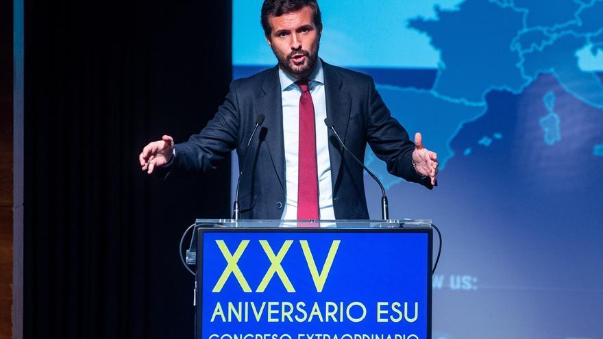 Casado exige a Sánchez que cumpla su palabra y traiga a España a Puigdemont