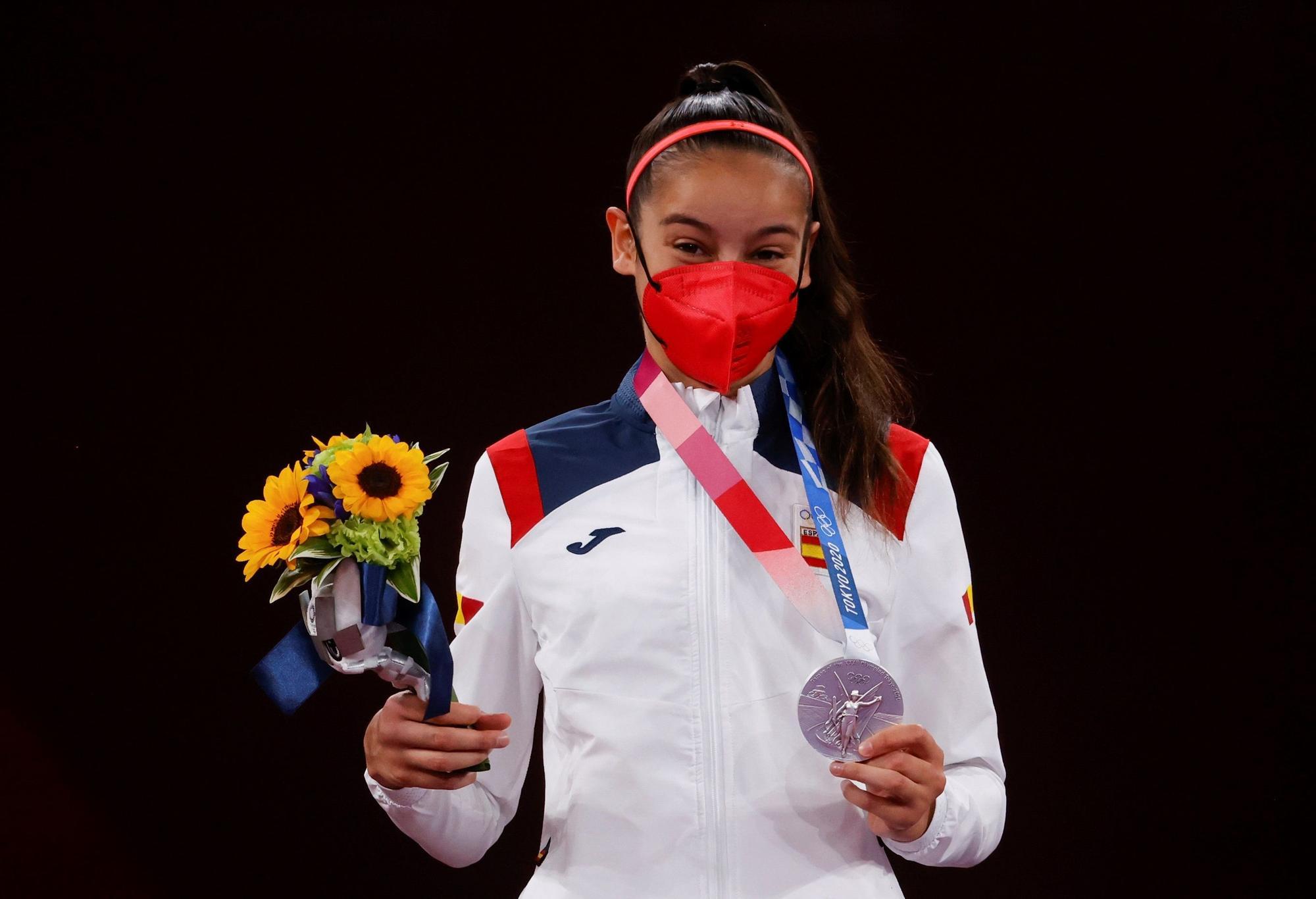 Adriana Cerezo, plata en taekwondo, primera medallista española