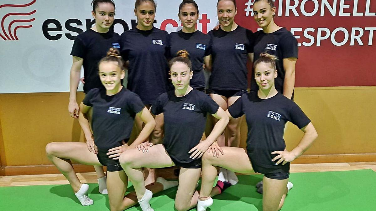 Vuit gimnastes de l'Egiba que provaran de sumar els màxims punts possibles | CLUB EGIBA