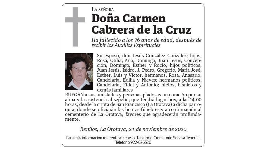Carmen Cabrera de la Cruz