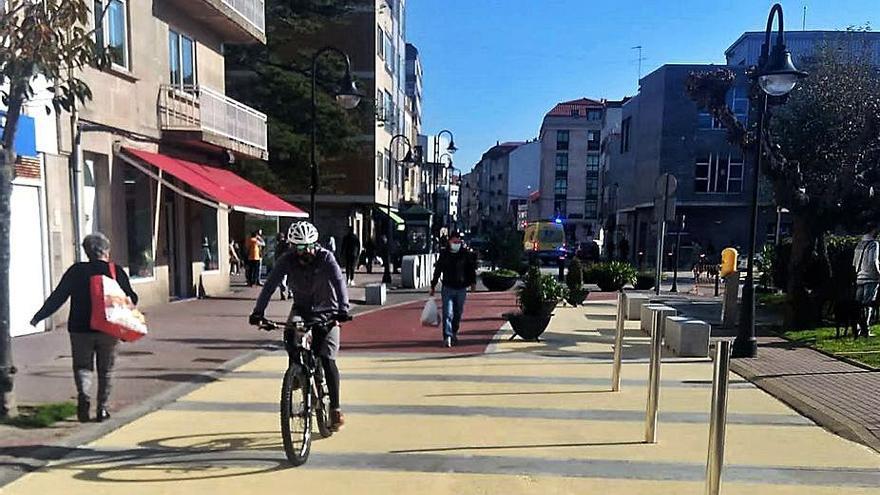 Cangas avanza en la peatonalización y prohíbe circular y aparcar en Méndez Núñez todo el día