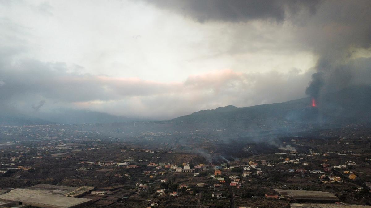 Volcano eruption on the Island of La Palma