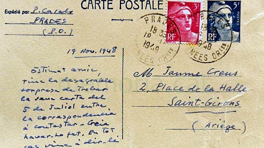 Memoria.cat publica avui les últimes cartes inèdites de Jaume Creus