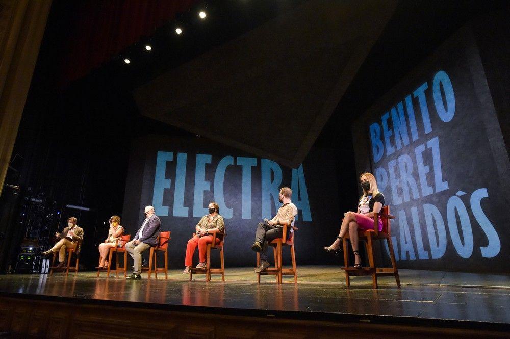 Presentación de la obra 'Electra' en el Teatro Pérez Galdós