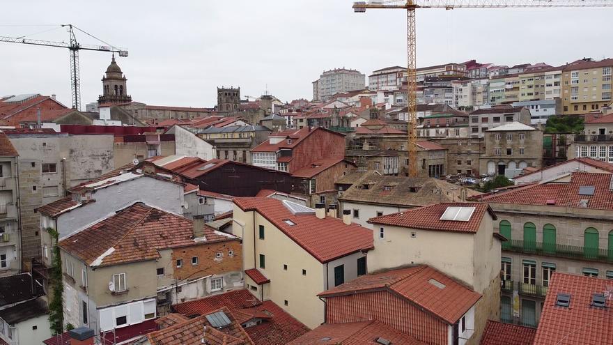 La 'agonía' del Casco Viejo de Ourense, a vista de dron