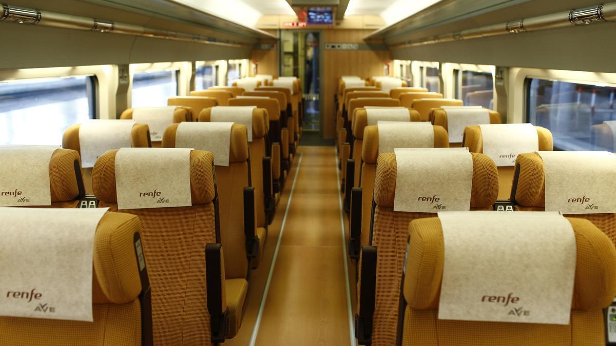 Una imagen del interior de un AVE.