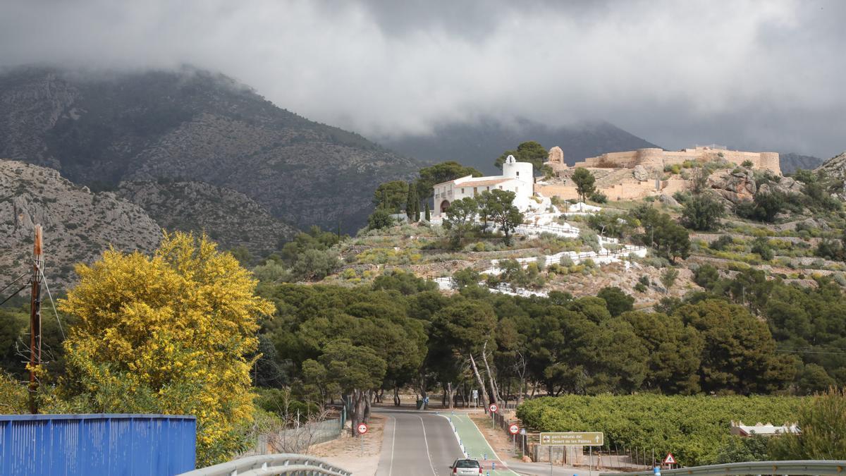 La ermita de la Magdalena junto al castell vell en Castelló.