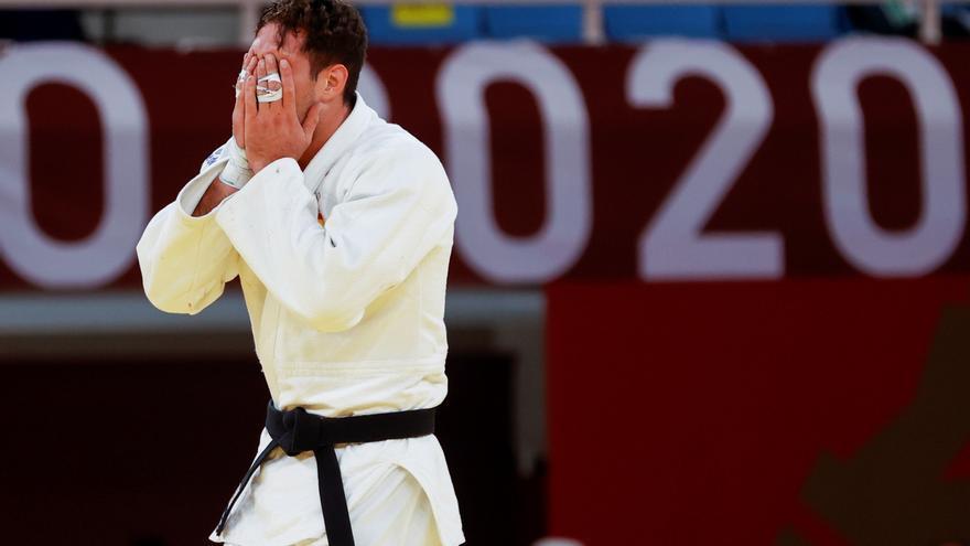 """La amarga caída del favorito del judo español Nico Sherazadishvili: """"Estoy dolido"""""""