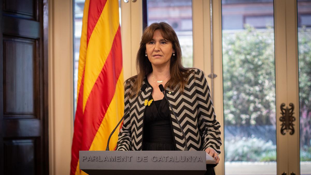 a presidenta del Parlament, Laura Borràs.