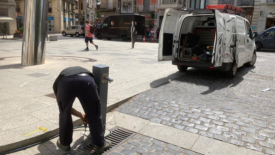 Figueres instal·la fonts d'aigua extra i atén les persones més vulnerables davant l'onada de calor
