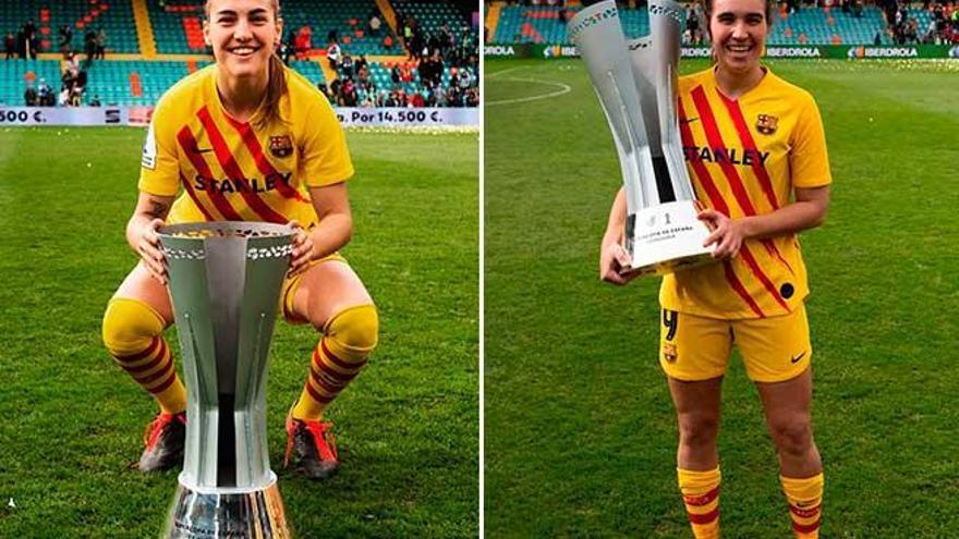 Patri Guijarro y Mariona Caldentey alzan la primera Supercopa de España femenina