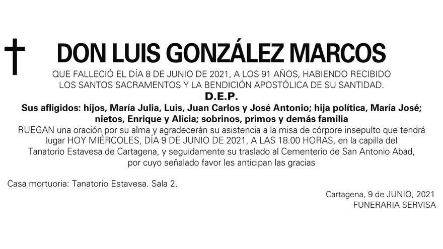 D. Luis González Marcos