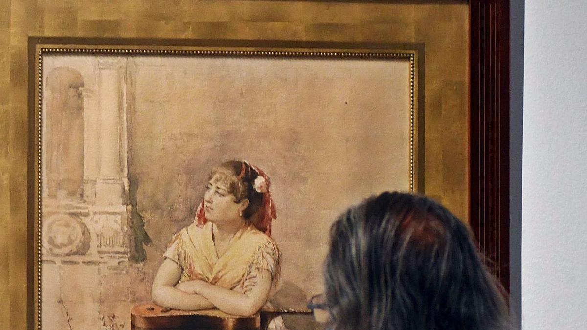 La exposición 'Pintores murcianos en el Museo del Prado' se puede ver hasta el 25 de julio.   ISRAEL SÁNCHEZ