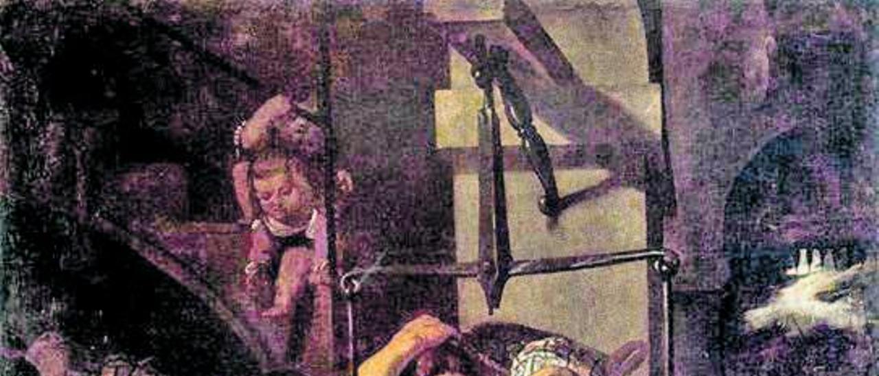 Cuadro de J. Espinosa (1639) pesando al Cristo.   LEVANTE-EMV