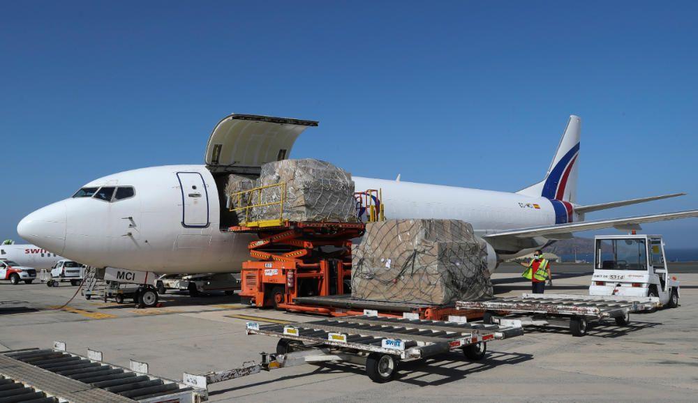 Nuevos cargamentos de material sanitario