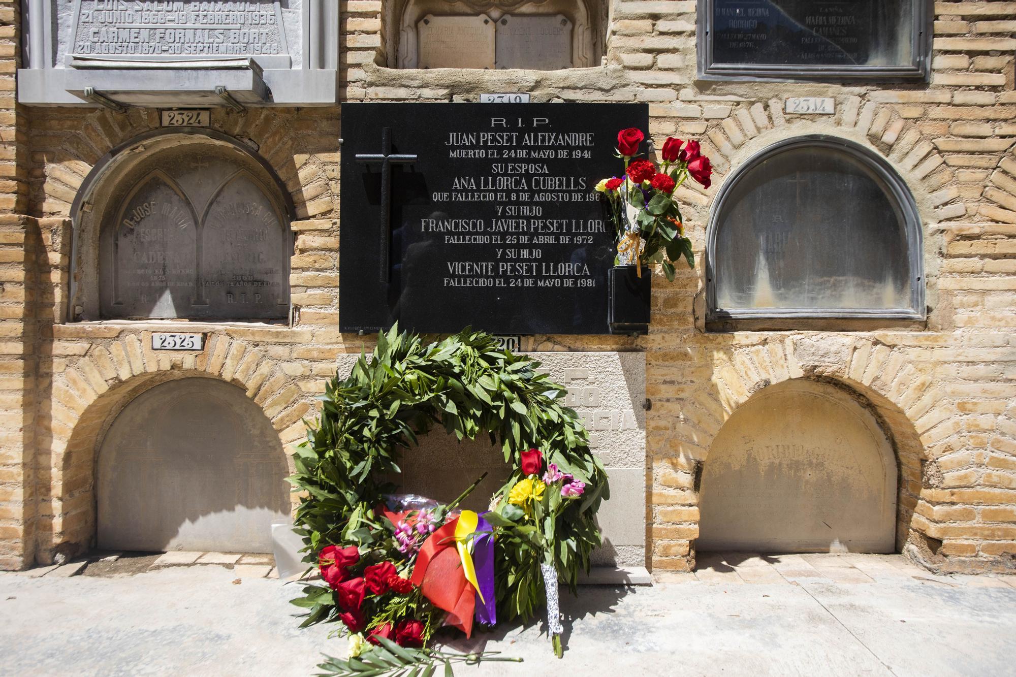 Homenaje al doctor Juan Peset en el 80 aniversario de su fusilamiento