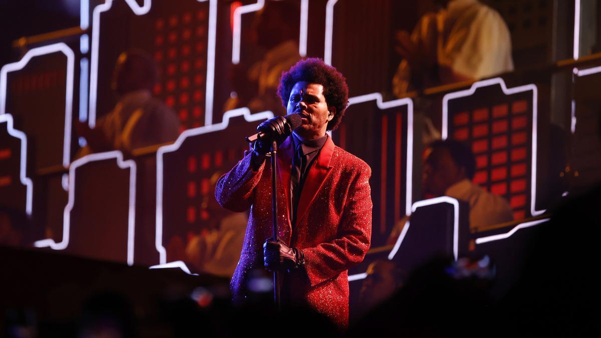 The Weeknd en uno de sus conciertos