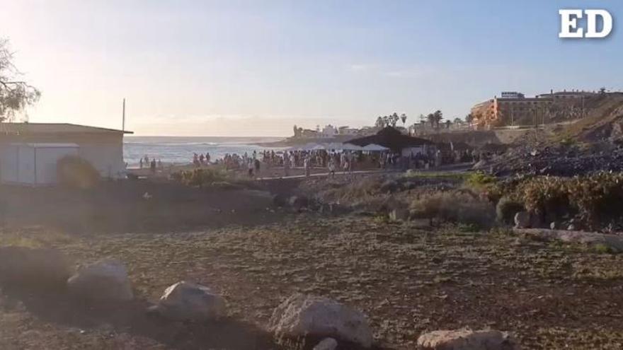 Fiestas y botellones en playas de Adeje