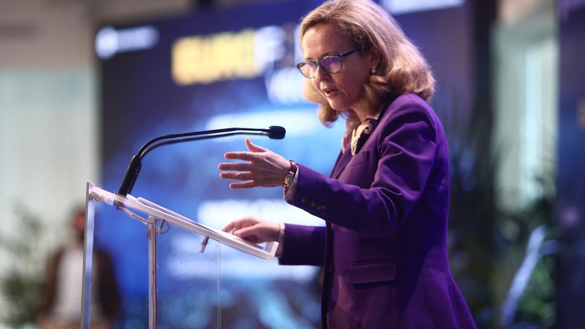 Nadia Calviño, la vicepresidenta tercera y ministra de Asuntos Económicos.