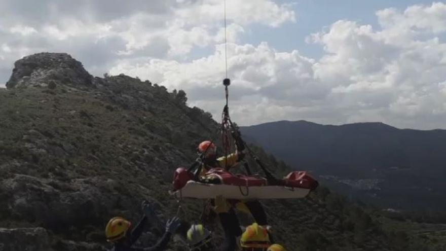 Muere una senderista de unos 40 años al caer desde 10 metros de altura en la Vall de Laguar