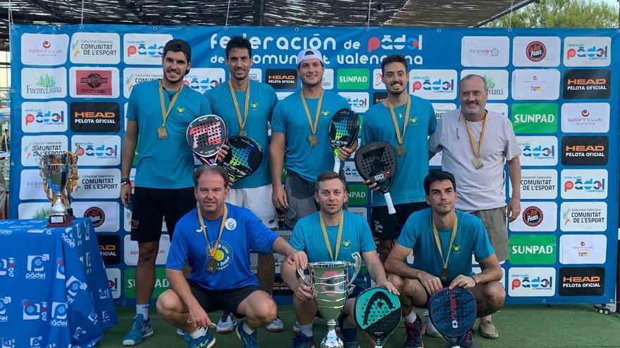 Club de Pádel Riba-roja y Costa de Azahar, campeones autonómicos por clubes