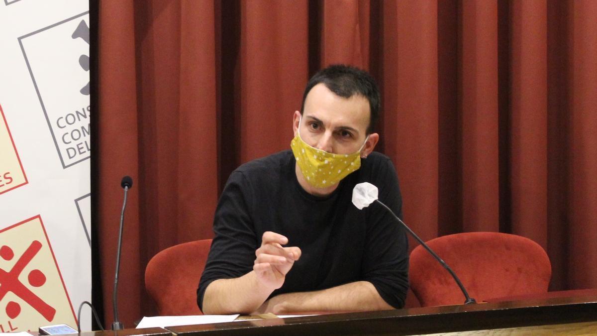 Marc Casabosch en un ple del Consell Comarcal del Solsonès el passat mes de gener