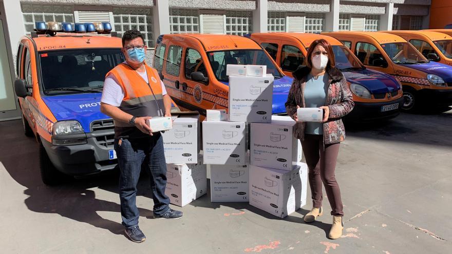 El Ayuntamiento de la capital grancanaria distribuye 12.500 mascarillas a personas mayores y dependientes