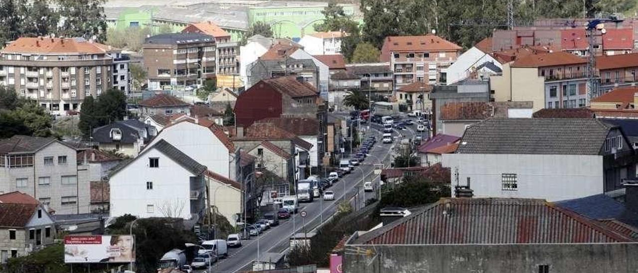 Una vista del casco urbano de Arcade, la zona más poblada y con más tráfico de Soutomaior. // FdV