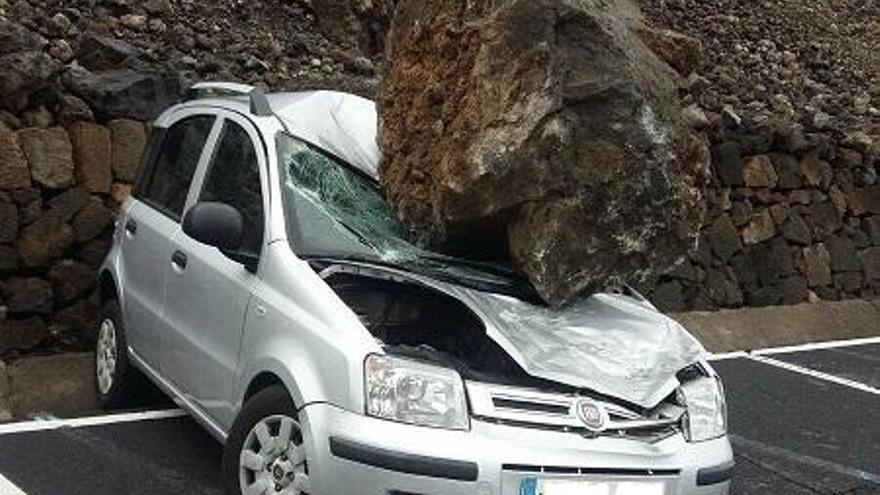 Mejoran la seguridad del aparcamiento del teleférico del Teide