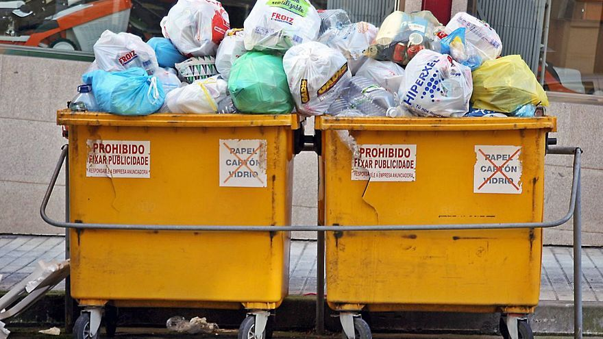 El contenedor amarillo rebosa por la pandemia