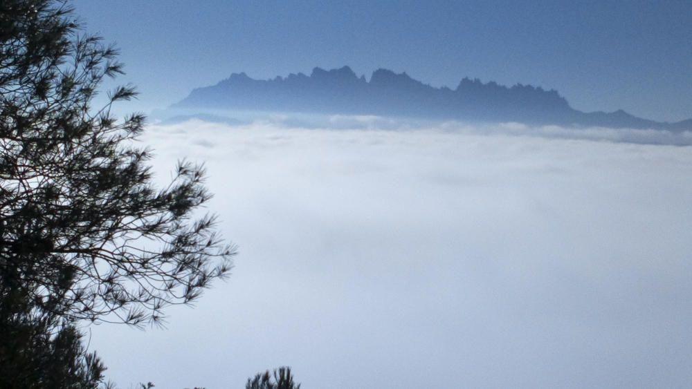 Collbaix. Aquests dies, amb les boires i les temperatures baixes que tenim, podem gaudir de paisatges com aquest, imatge que ens ha fet arribar un dels nostres lectors. Sembla una catifa de cotó que convida a arribar fins a Montserrat.