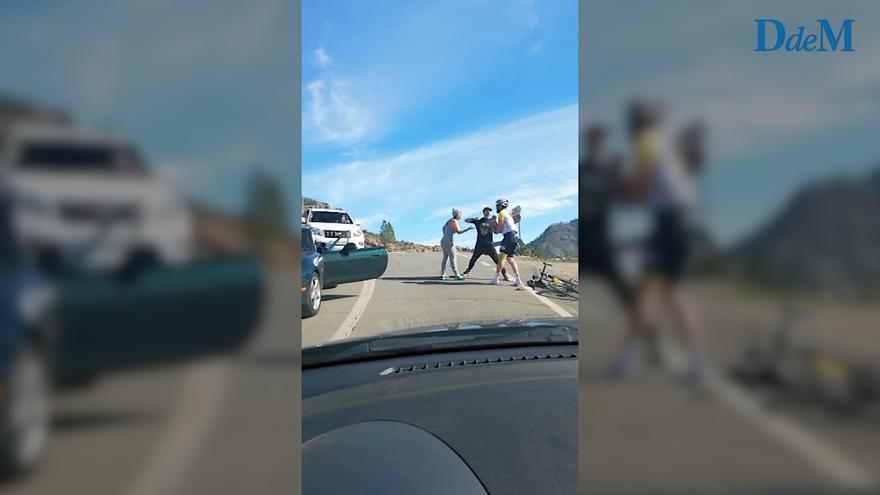 Así fue agredido el ciclista mallorquín Raúl Márquez por un conductor