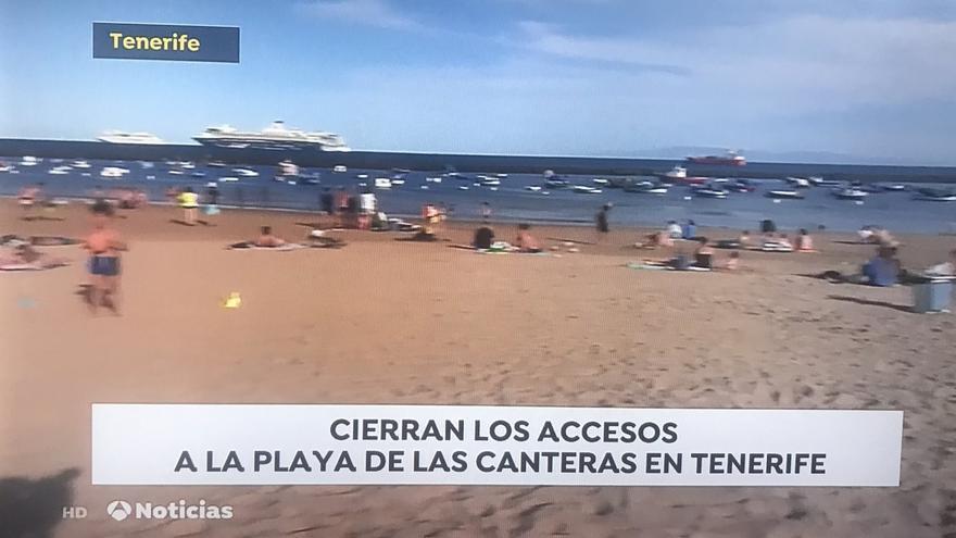 Vuelven a situar la playa de Las Canteras en Tenerife