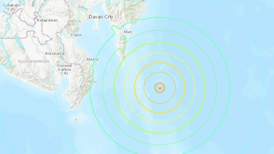 Un seísmo de magnitud 6,9 sacude el sur de Filipinas