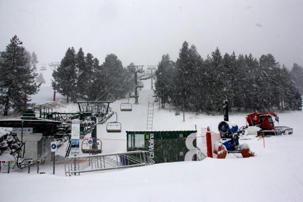 Neu a La Molina.