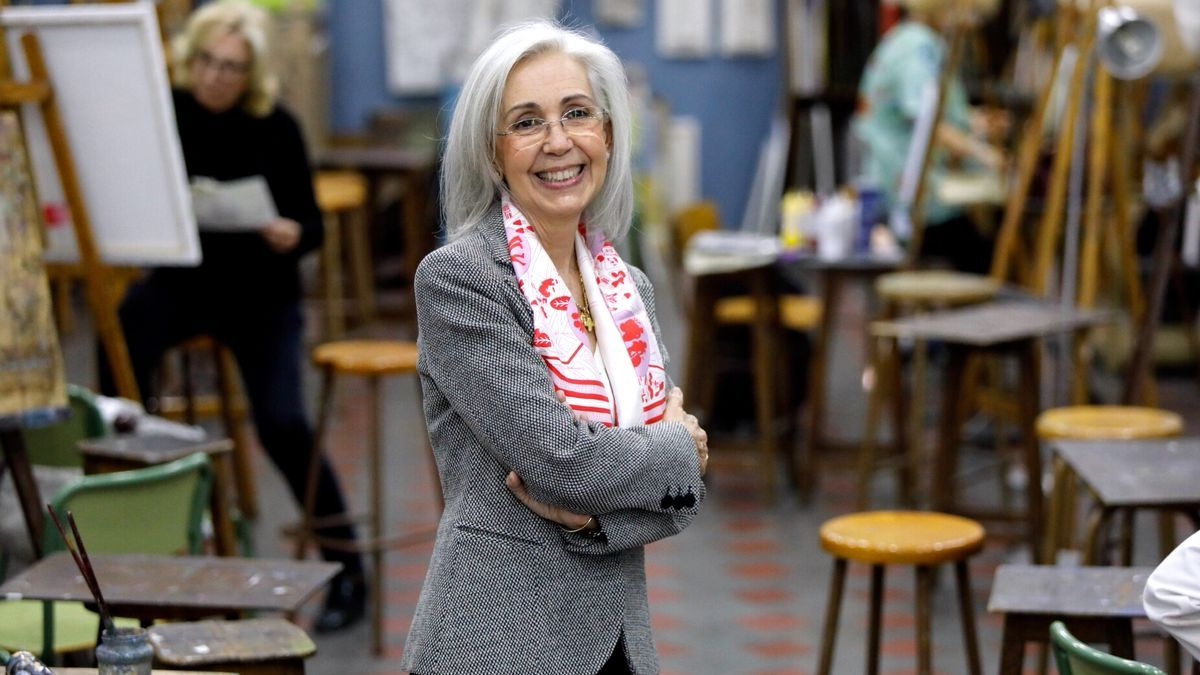 Blanca Pons-Sorolla, en la Escuela de Artesanos de València.