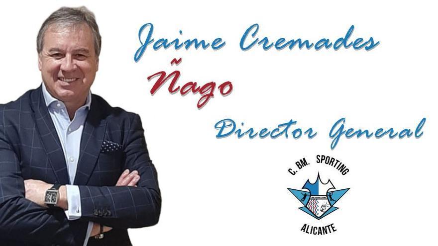 Jaime Cremades 'Ñago', nuevo director general del Horneo Alicante