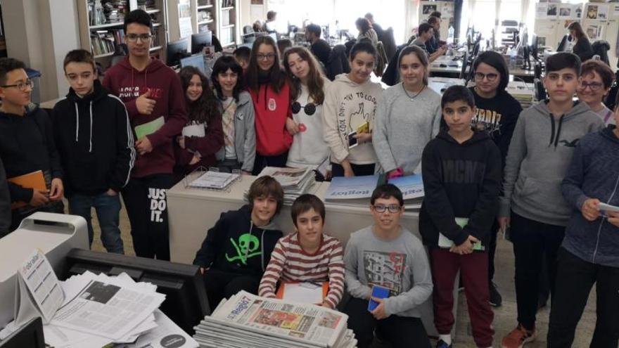Alumnes del Lluís de Peguera visiten Regió7