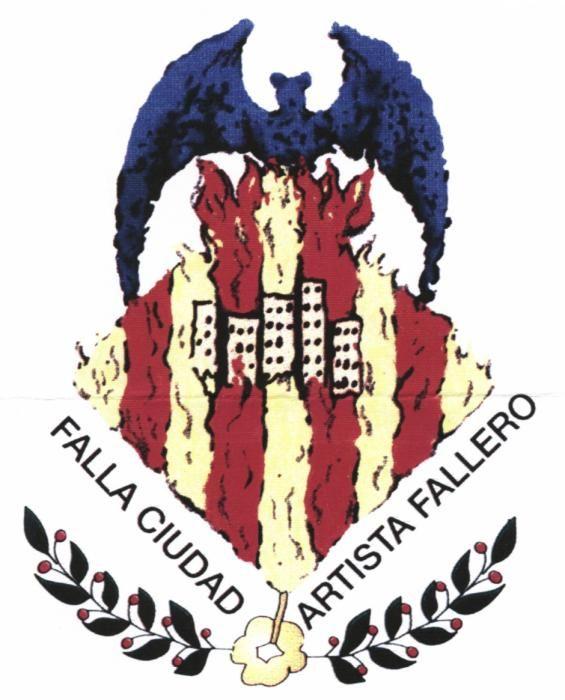 Ciudad del Artista Fallero, con los bloques de viviendas del barrio