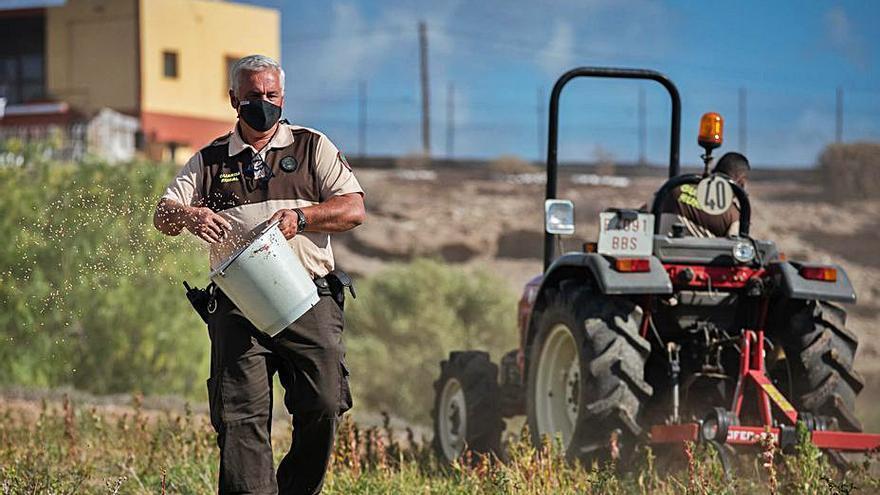 Diez guardas rurales vigilan la caza controlada en la Isla contratados por la Federación para la Gestión Cinegética