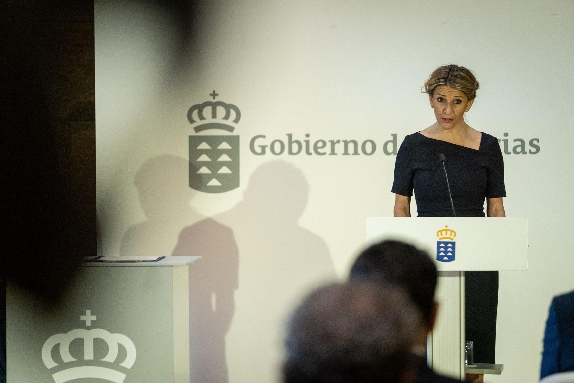 Visita a Tenerife de Yolanda Díaz