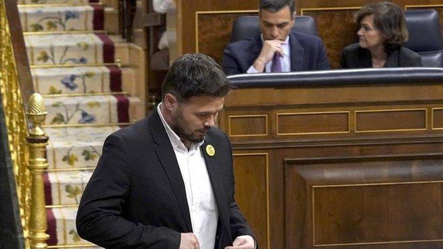 """Rufián advierte al PSOE de que """"sin diálogo no hay legislatura"""""""