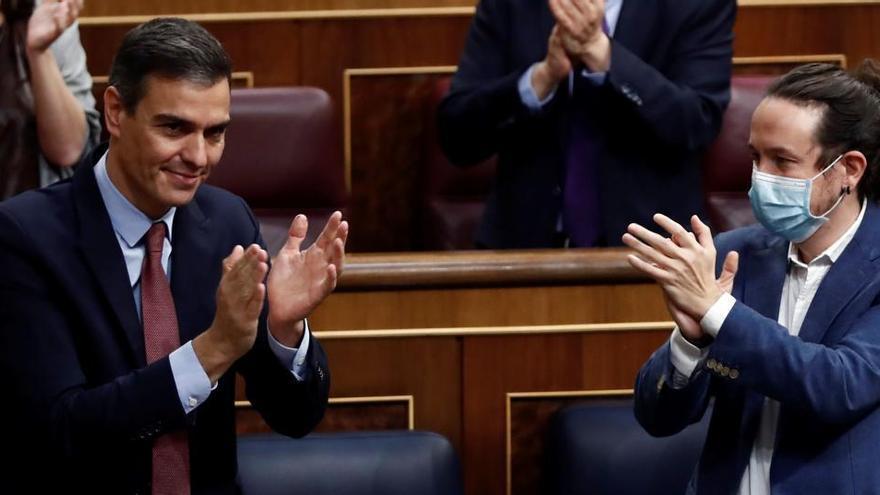 Sánchez e Iglesias preparan un acto para presentar el martes los Presupuestos
